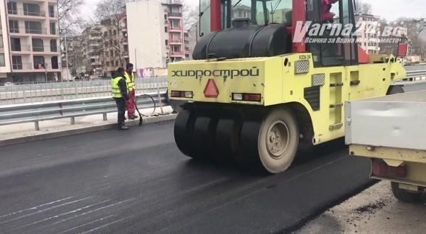 """Събщиха какво е направено при реконструкцията на бул. """"Левски"""" край РЗИ"""
