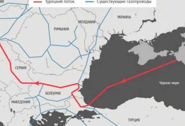Газопроводът Турски поток ще бъде въведен в експлоатация до края